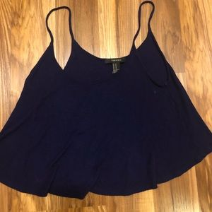 navy blue cropped tank top